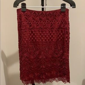 Brand new Loft lace skirt
